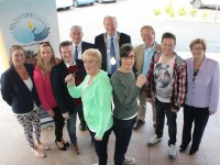 At the launch of 'The Voice of Kerry' were, from left, front: Mary Higgins, Niamh Daly (Performers) Back:Grace O'Donnell (Recovery Haven) Moire Fitzgerald and Joe Burkett (Organisers), Dermot Crowley (Recovery Haven), Mayor of Tralee Jim Finucane, Dan Collins (Recovery Haven), James Brennan (Performer) Maureen O'Brien (Recovery Haven). Photo by Gavin O'Connor.