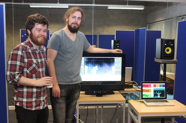 At the IT Tralee, Creative Media Final Year Project Exhibit were, from left: Alan O'Sullivan and Daniel Bannon. Photo by Gavin O'Connor.
