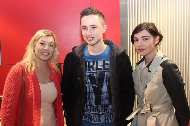 At the IT Tralee, Creative Media Final Year Project Exhibit were, from left: Laura Hickey, Daniel Sheehan and Denise Hickey. Photo by Gavin O'Connor.