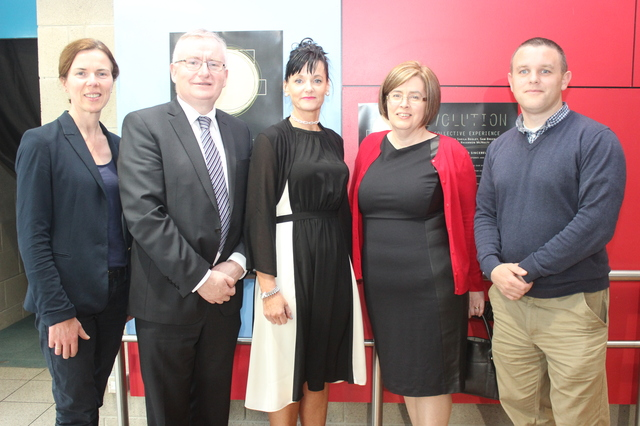 At the IT Tralee, Creative Media Final Year Project Exhibit were, from left: Maria Kennelly, Oliver Murphy, Mary Lucey, Bridget Crowley and Sean Murphy. Photo by Gavin O'Connor.