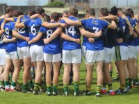 Kerry team in a huddle after the Christy Ring Cup match in Austin Stack Park against Meath. Photo by Gavin O'Connor