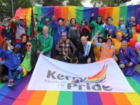 Participants in the Kerry Festival of Pride parade on Saturday. Photo by Dermot Crean