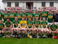 The Kerry squad before the defeat of Kildare in the Christy Ring Cup semi-final.
