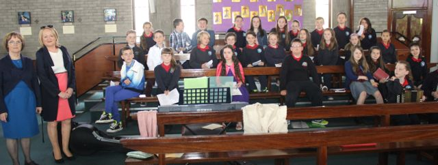 Listellick pupils who sang at the First Holy Communion at Our Lady and St Brendan's Church on Saturday morning. Photo by Dermot Crean