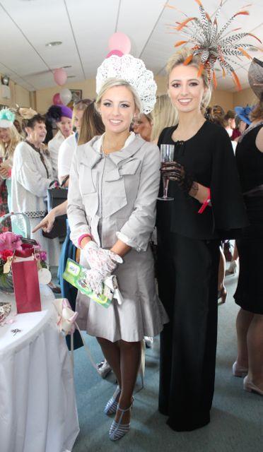 Niamh and Aoife McNamara enjoying Ladies Day at the Listowel Races on Sunday. Photo by Dermot Crean