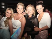 Clare Foran, Amy McLoughlin, Kayleigh Muntzer and Sarah Griffin at the opening night of Quarters Nightclub on Saturday. Photo by Dermot Crean