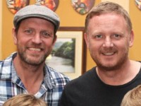 Lee Sharpe and David May will be in the Stretford Bar, Causeway over the weekend: Photo by Gavin O'Connor.
