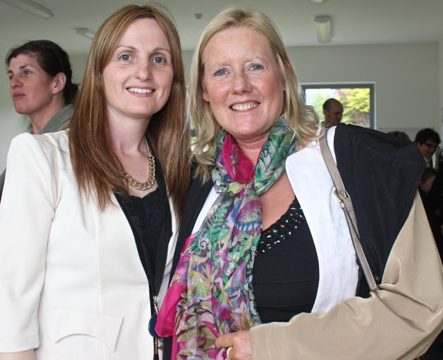 Angelina Moriarty and Marie Rael at the opening of the new extension at St Ita's and St Joseph's School on Wednesday. Photo by Dermot Crean