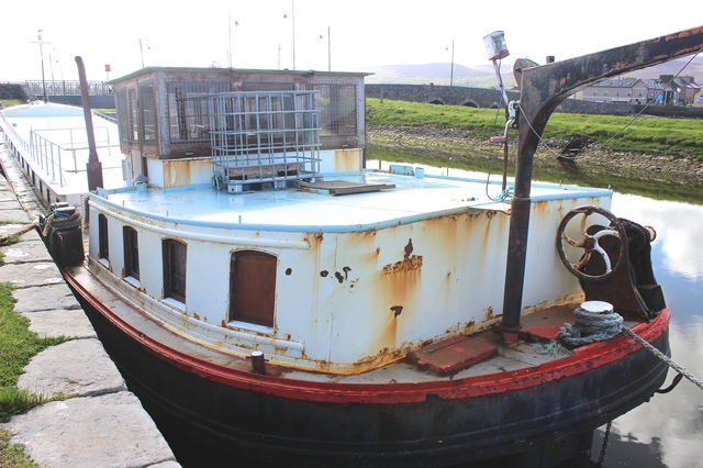 The back of the barge in Blennerville, has been showing up a lot of rust. Photo by Gavin O'Connor.