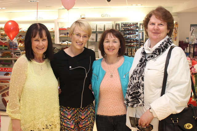 At the  were, from left: Anne Devane, Siobhan Devane, Geraldine O'Donoghue and Angela O'Donnell. Photo by Gavin O'Connor.