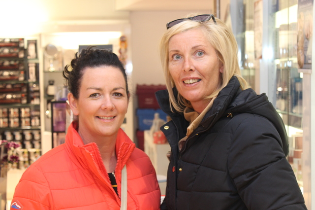 At the  were, from left: Fiona Evans and Geraldine Murphy. Photo by Gavin O'Connor.
