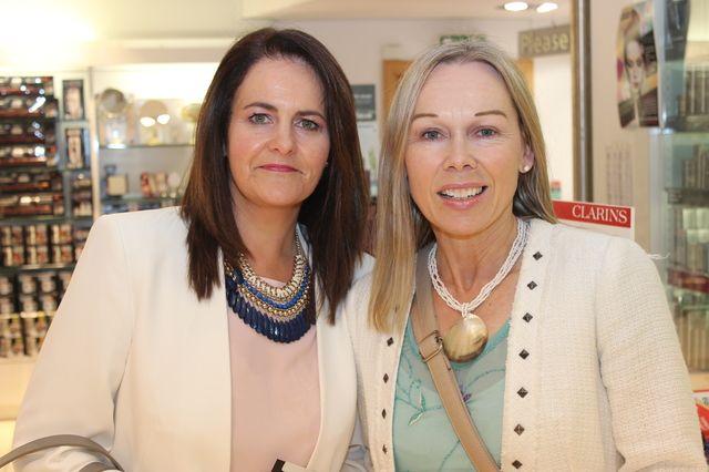 At the  were, from left: Sinead O'Halloran and Jacqui O'Carroll. Photo by Gavin O'Connor.