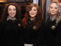 At the Gaelcholaiste Chiarrai graduation were, from left: Aisling Ni Chonaill, Megan Ni Cionachtaigh and Laura Ni Dhrisceoil. Photo by Gavin O'Connor.