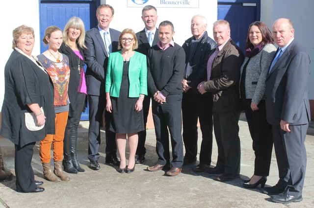 Minister for Education, Jan O'Sullivan, meets the Blennerville School Board of Management, from left: Anne Walsh, Louise Brassil (Dept Principal), Mary Wallace, Arthur Spring (TD), Minister Jan O'Sullivan, Graham Spring (Cllr), Terry O'Sullivan (Principal), Fred Garvey, Brendan O'Donoghue, Maura O'Donnell and Gerry Dwyer. Photo by Gavin O'Connor.