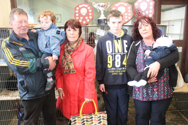 At the Kingdom County Fair, were from left: Thomas Griffin, Conor Fitzmaurice, Sheila Griffin, Brendan Fitzmaurice, Katherine Fitzmaurice and David Fitzmauirice. Photo by Gavin O'Connor.