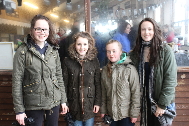 At the Kingdom County Fair, were from left: Maeve Pierce, Lucy Murphy, Katie Murphy and Emma Pierce. Photo by Gavin O'Connor.