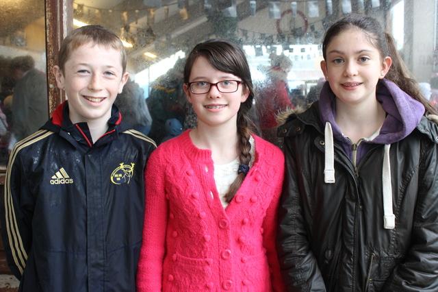 At the Kingdom County Fair, were from left: Mile Keane, Niambh and Caoimhe Nolan. Photo by Gavin O'Connor.