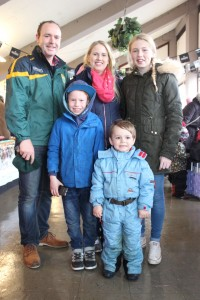 At the Kingdom County Fair, were from left, back: Eoin Flynn, Claire and Maeve Rochford. Front: Dara Rochford Flynn and Aidan Flynn. Photo by Gavin O'Connor.