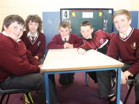 At the preliminary round of the Allianz Cumann a mBunscol table quiz in Holy Family National School, were from left: Matthew Browne, Gavin Burrows, Dean Farrell, Dylan Hurley and Adam Curren. Photo by Gavin O'Connor.