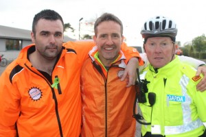 At 'Live Life Cycle Against Suicide' on in Mercy Mounthawk were, from left: Damien Martin, Jim Breen,Inspector Noel Mostyn. Photo by Gavin O'Connor.