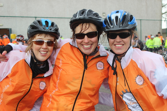 At the 'Live Life Campaign Cycle Against Suicide' on in Mercy Mounthawk were, from left: Louise Geoghegan, Ger Mannion and Caroline Costello. Photo by Gavin O'Connor.