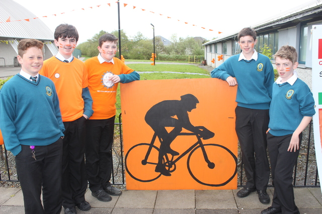 At the 'Live Life Campaign Cycle Against Suicide' on in Mercy Mounthawk were, from left: Jim Cadogan, Timothy Grimes, Danny Sheehy, Luke O'Carroll and Dara O'Keefe. Photo by Gavin O'Connor.