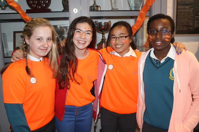 At the 'Live Life Campaign Cycle Against Suicide' on in Mercy Mounthawk were, from left: Laura Harty, Katie Crowe, Sarah Ferguson, Dorcas Oyewand. Photo by Gavin O'Connor.