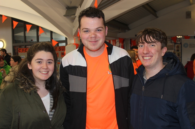 At the 'Live Life Campaign Cycle Against Suicide' on in Mercy Mounthawk were, from left: Emma McCarthy, Mark O'Connor and Marcus O'Brien. Photo by Gavin O'Connor.
