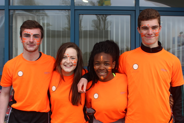 At the 'Live Life Campaign Cycle Against Suicide' on in Mercy Mounthawk were, from left: Evan Doody, Amy Maher, Unity Ankomah and Joe Hoare. Photo by Gavin O'Connor.