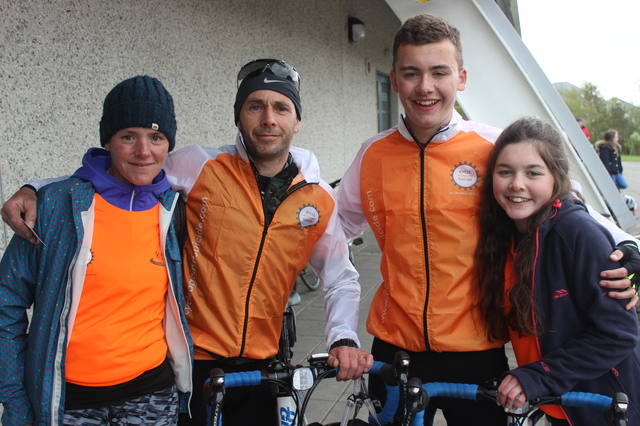 At the 'Live Life Campaign Cycle Against Suicide' on in Mercy Mounthawk were, from left: Aisling, Brendan, Killian and Aoife Barrow. Photo by Gavin O'Connor.