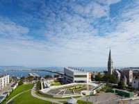 The dlrLexicon building designed by Louise Cotter in Dun Laoghaire, Dublin.