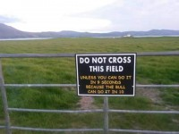 Sign Gives Walkers In Fenit A Witty Warning