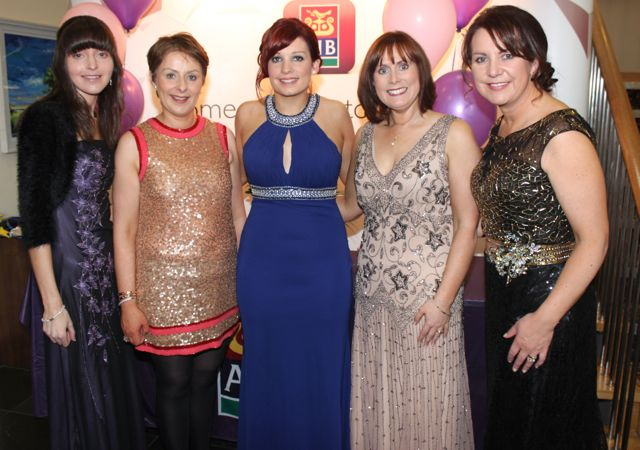 Jackie O'Connor, Siobhan Barrett, Sarah Leahy, Caroline McEnery and Liz Maher at the Connect Kerry Lee Strand Women in Business Awards at the Ballyroe Heights Hotel on Friday night. Photo by Dermot Crean