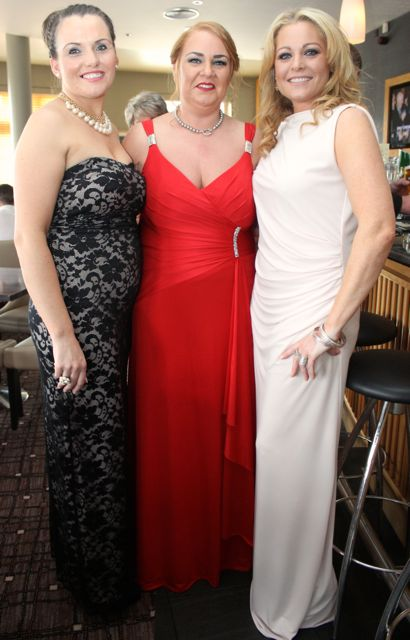 Alison O'Sullivan, Karen O'Connor and Laura Fitzgerald at the Connect Kerry Lee Strand Women in Business Awards at the Ballyroe Heights Hotel on Friday night. Photo by Dermot Crean