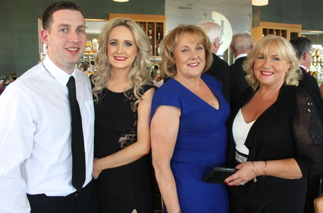 Brian and Edel O'Donoghue, Marian Fitzgerald and Marie Baker at the Connect Kerry Lee Strand Women in Business Awards at the Ballyroe Heights Hotel on Friday night. Photo by Dermot Crean