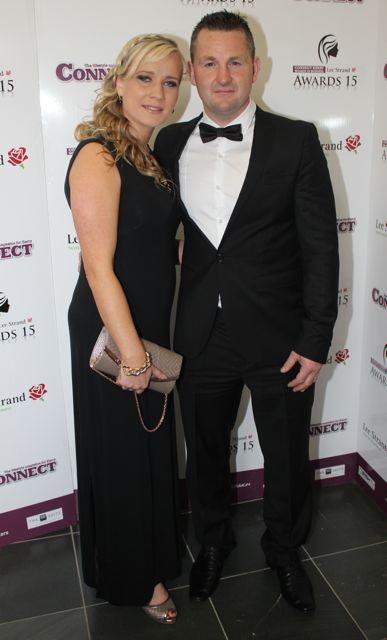 Inga Balsiene and David O'Sullivan at the Connect Kerry Lee Strand Women in Business Awards at the Ballyroe Heights Hotel on Friday night. Photo by Dermot Crean
