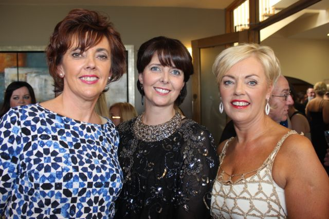 Bernice Dowling, Denise Bourke and Kayrena Dowling at the Connect Kerry Lee Strand Women in Business Awards at the Ballyroe Heights Hotel on Friday night. Photo by Dermot Crean