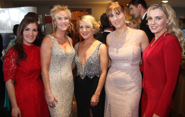 Ria Kavanagh, Claire Murphy, Kate Kavanagh, Siobhan Sheehy and Tara Comerford at the Connect Kerry Lee Strand Women in Business Awards at the Ballyroe Heights Hotel on Friday night. Photo by Dermot Crean