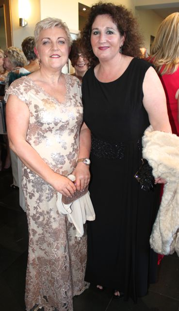 Mary McCaffrey and Brid McElligott at the Connect Kerry Lee Strand Women in Business Awards at the Ballyroe Heights Hotel on Friday night. Photo by Dermot Crean
