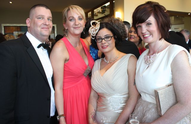 Alan Core, Sharon Dawson, Cathy Troth and Tara Donoghue at the Connect Kerry Lee Strand Women in Business Awards at the Ballyroe Heights Hotel on Friday night. Photo by Dermot Crean