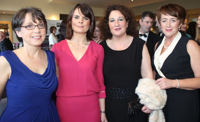Mary Rose Stafford, Helena McMahon, Brid McElligott and Breda O'Dwyer at the Connect Kerry Lee Strand Women in Business Awards at the Ballyroe Heights Hotel on Friday night. Photo by Dermot Crean