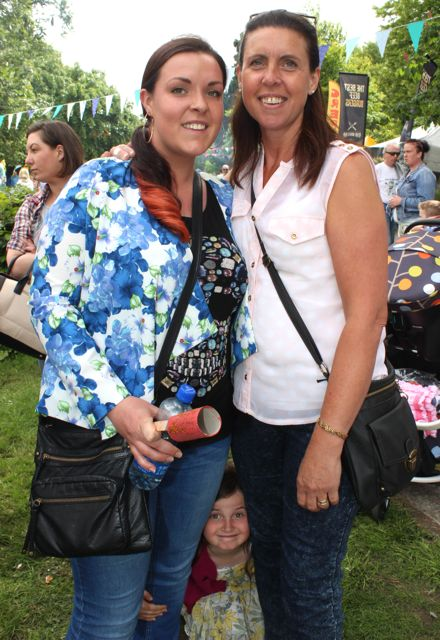 Natalie and Christine Kelliher at the Féile na mBláth in the Town Park on Saturday. Photo by Dermot Crean