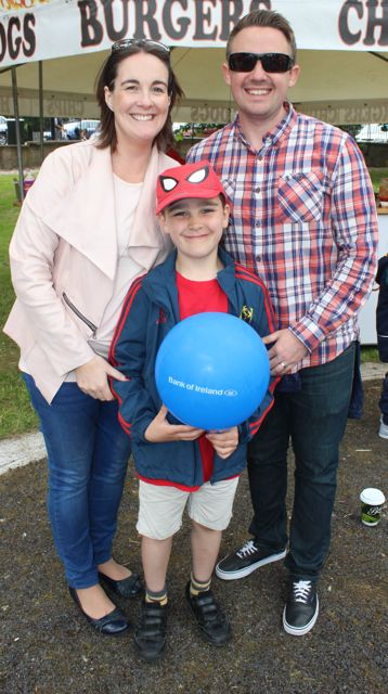 Andrea, Ryan and Tommy Lyons at the Féile na mBláth in the Town Park on Saturday. Photo by Dermot Crean