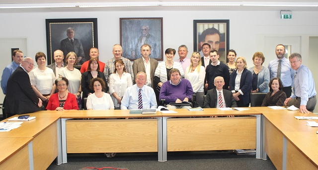 Members of Kerry ETB and IT Tralee at the signing of the MOU between both parties in the North Campus on Monday evening.