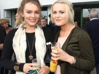Mary Louise Donovan, Moyvane and Marguerite O'Donoghue, Ballybunion, at the Kerry GAA Night Of Champions at Kingdom Greyhound Stadium on Friday night. Photo by Dermot Crean