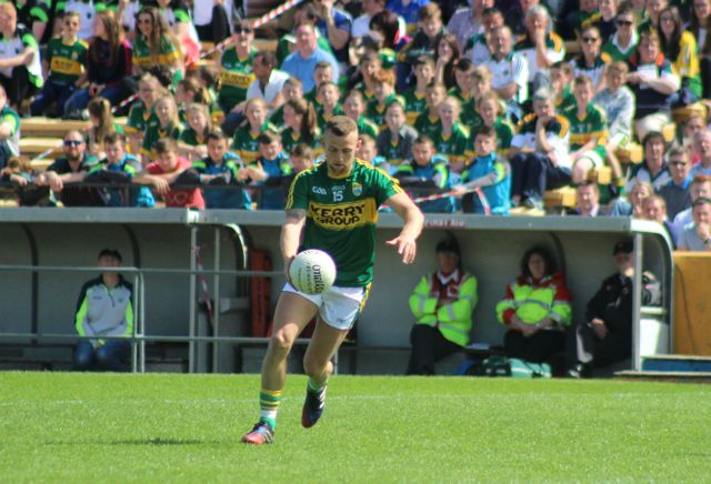 Barry John Keane, get's on the ball against Tipperary. Photo by Dermot Crean.