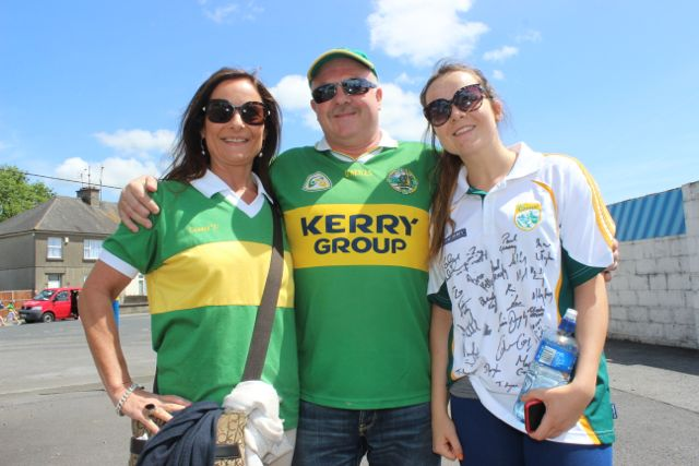 Breda, Richard and Alannah Hickey in Thurles for the Tipperary v Kerry match on Sunday. Photo by Dermot Crean