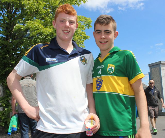 Liam Greaney and Shea Leahy in Thurles for the Tipperary v Kerry match on Sunday. Photo by Dermot Crean