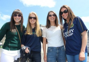 Niamh Moriarty, Amy Moriarty, Clodagh Fitzgerald and Ciara Kennedy in Thurles for the Tipperary v Kerry match on Sunday. Photo by Dermot Crean