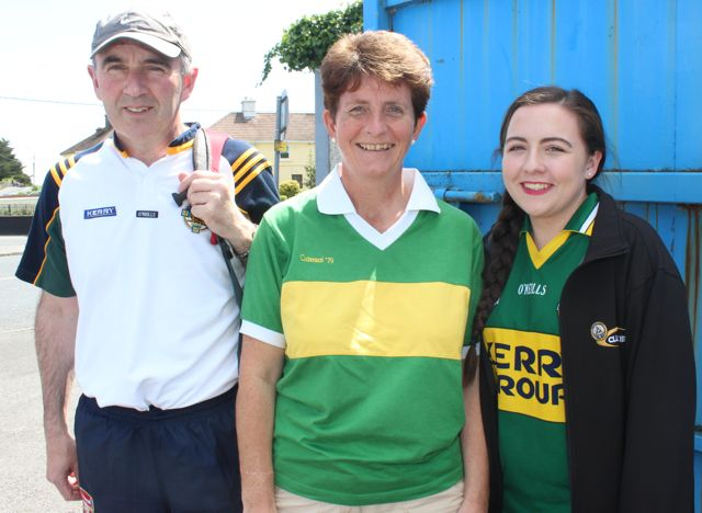 Michael, Monica and Maeve Lynch, Tralee in Thurles for the Tipperary v Kerry match on Sunday. Photo by Dermot Crean